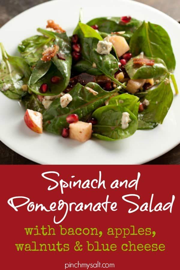 Spinach Pomegranate Salad | pinchmysalt.com