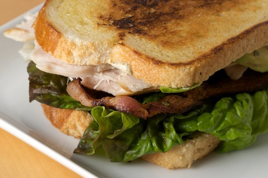 Bacon, Lettuce, Avocado and Turkey Sandwich with Spicy Chipotle Mayonnaise
