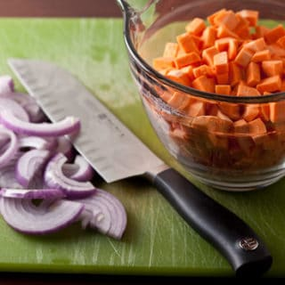 Sweet Potato Hash with Cumin and Red Onion
