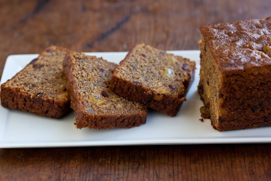 Persimmon Bread on Plate