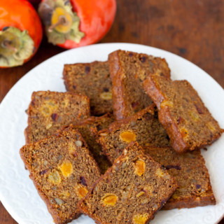 Whole Wheat Persimmon Bread with Walnuts and Brandy