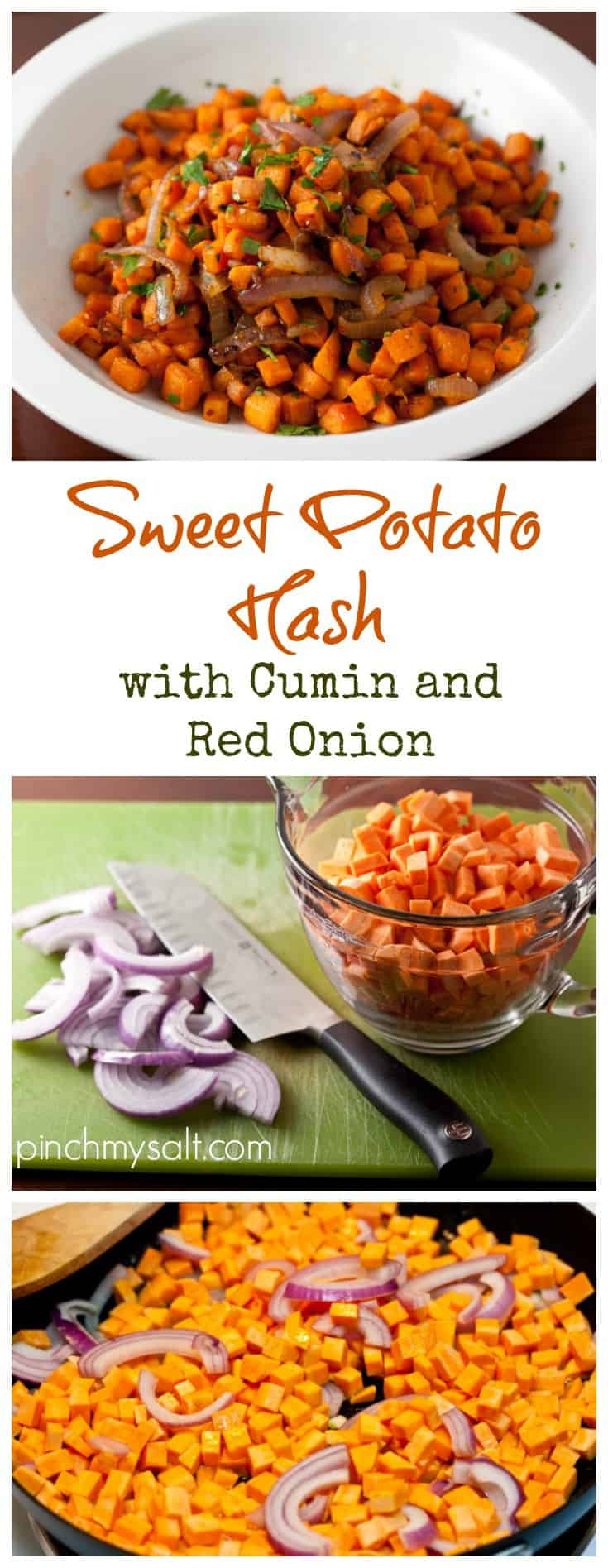 Sweet Potato Hash with Cumin and Red Onion | pinchmysalt.com