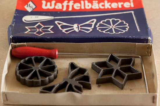 German Rosette Iron Set