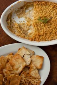 White Bean Dip with Pita Chips