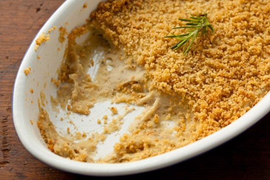 Baked White Bean Dip with Rosemary and Parmesan