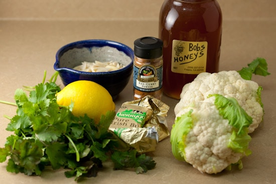Ingredients for Cauliflower with Curry Butter and Almonds