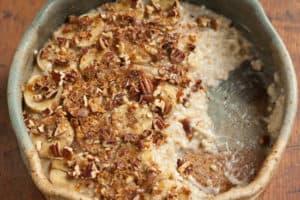 Inside the Banana Pecan Oatmeal Brulee