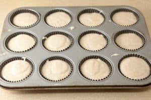 Muffin Cups Filled with Batter