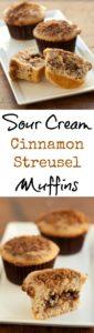 Sour Cream Cinnamon Streusel Muffins with Pecan Filling | pinchmysalt.com