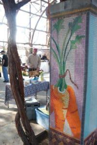 Carrot Mosaic at The Vineyard Farmer's Market