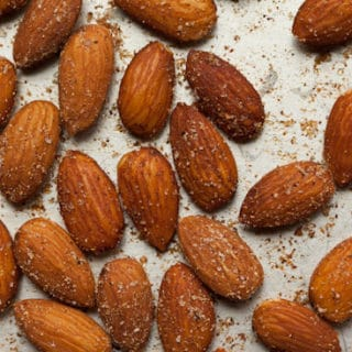 Roasted Almonds on Sheet Pan