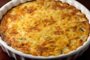 Ham, Asparagus, and Gruyere Crustless Quiche | pinchmysalt.com