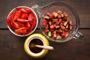 Strawberries, Rhubarb, and Honey