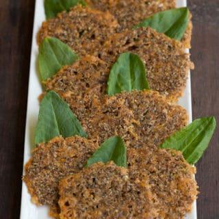 Herbed Cheddar Parmesan Crisps Recipe