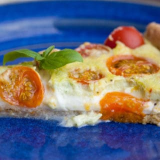 Wordless Wednesday: End-of-Summer Caprese Tart