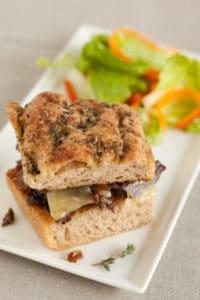 Braised Short Rib Sandwich with Salad