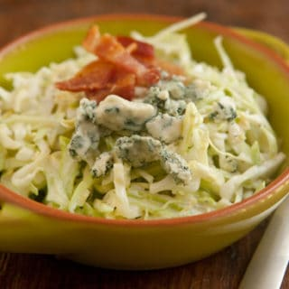Coleslaw with Bacon and Blue Cheese
