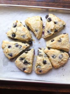 Buttermilk Blueberry Scones out of the oven