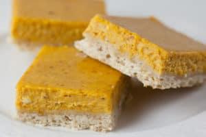 Pumpkin Pie Bars with Brown Sugar Shortbread Crust