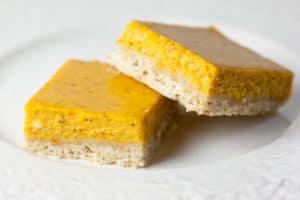 Pumpkin Cheesecake Bars with Brown Sugar Shortbread Crust