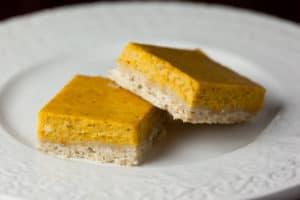 Pumpkin Cheescake Bars with Brown Sugar Shorbread Crust