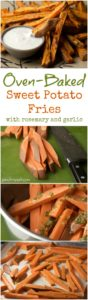 Oven-Baked Sweet Potato Fries with Garlic and Rosemary | pinchmysalt.com