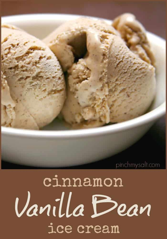 Cinnamon Vanilla Bean Ice Cream Recipe | pinchmysalt.com