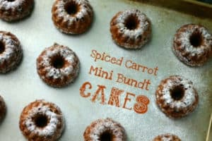Spiced Carrot Mini Bundt Cakes from Food Maven