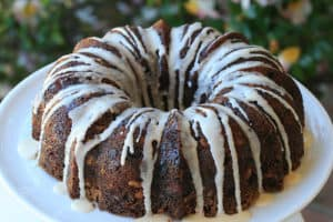 Fuyu Persimmon Bundt Cake from FoodLibrarian.com