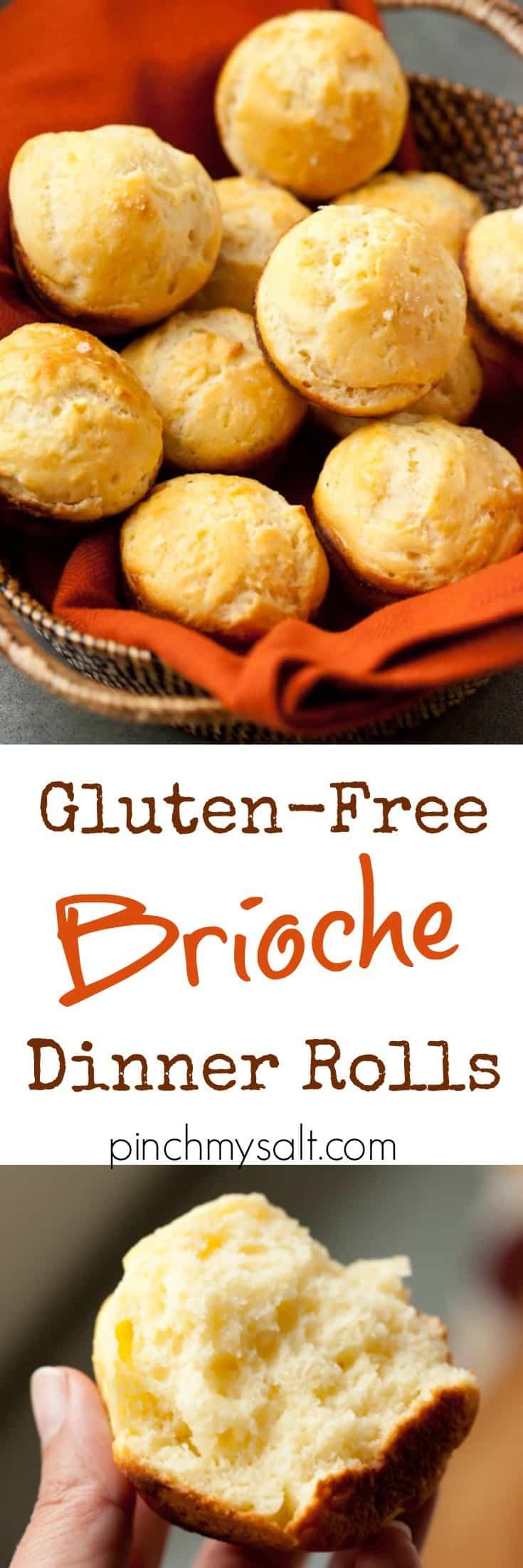 Gluten-Free Brioche Dinner Rolls | pinchmysalt.com