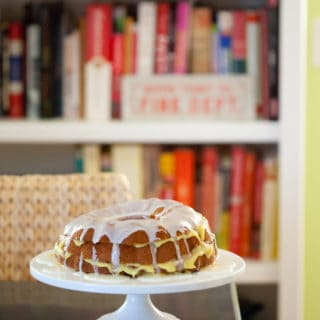 Messy Lemon Bundt Cake Filled with Meyer Lemon Curd