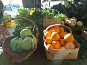 Cabbages and Oranges at the Farmer's Market