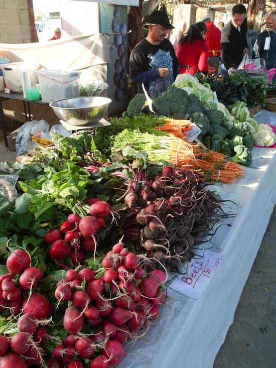 Beets and Carrots at the Farmer's Market