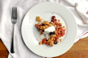 Gluten-Free Apple Blackberry Crisp from Brooklyn Supper