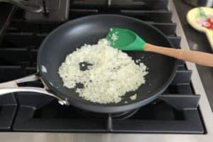 Onion in skillet