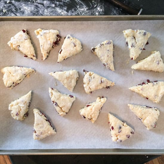 Cranberry Orange Scones at Pinch My Salt