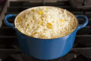 Fluffy Green Chile Rice | pinchmysalt.com