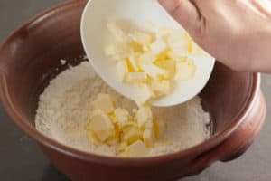 Add butter to flour | pinchmysalt.com