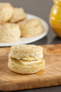 Sourdough biscuit with butter and honey | pinchmysalt.com