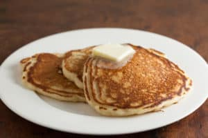 Easy overnight buttermilk sourdough pancakes   pinchmysalt.com