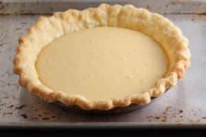 Lemon Cream Pie ready for the oven | pinchmysalt.com