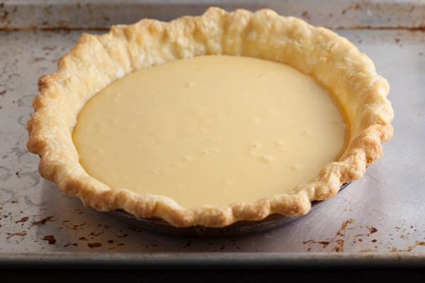 Lemon Cream Pie ready for the oven | pinchmysalt.com