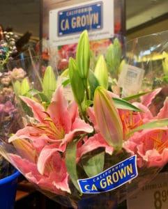 CA GROWN flower bouquet