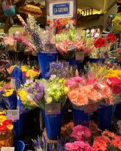 CA GROWN flower display at Vons