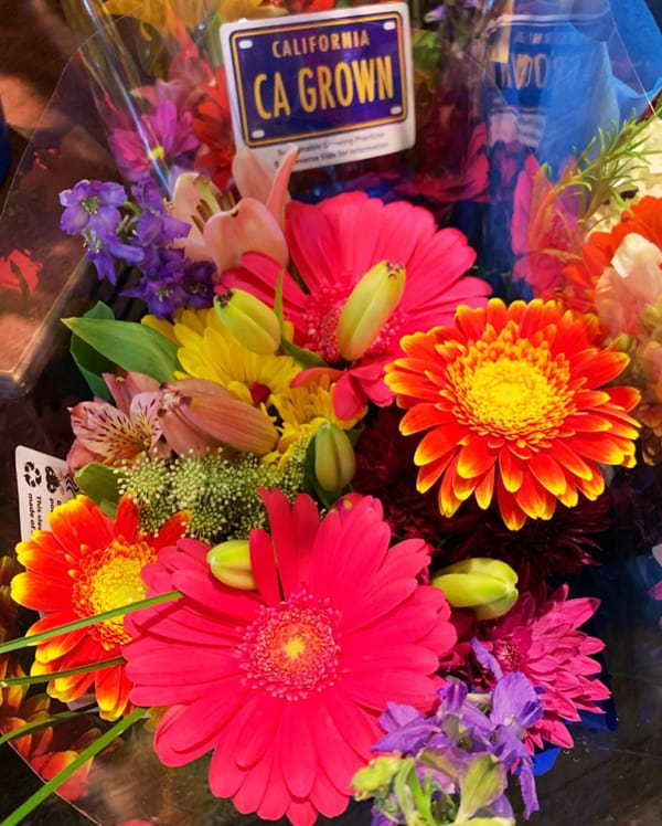 CA GROWN flower bouquet