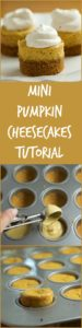 Mini Pumpkin Cheesecakes | pinchmysalt.com