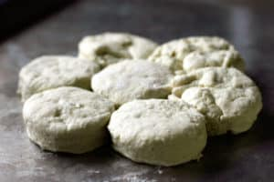 Buttermilk biscuits ready for oven | pinchmysalt.com