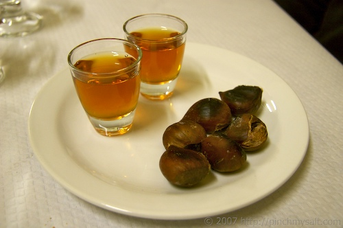 Amaro and Chestnuts