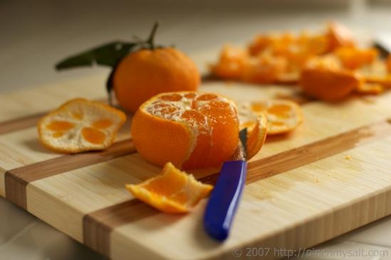 Peeling a Tangerine