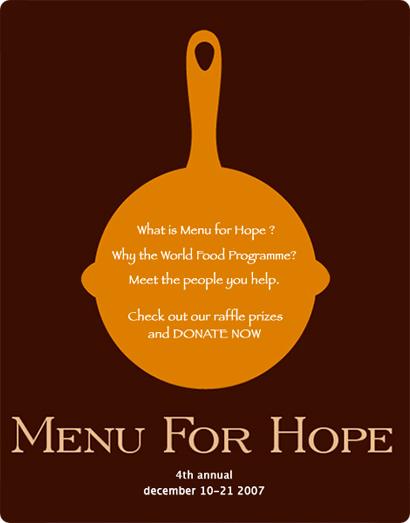 Menu for Hope